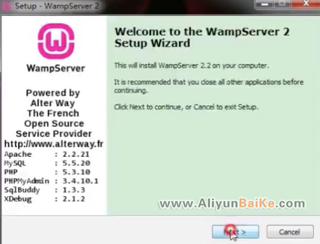 WampServer安装界面